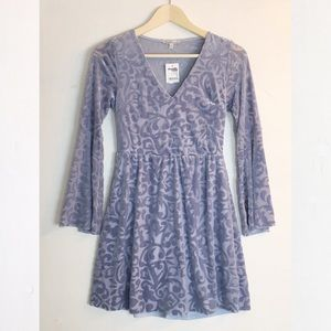 Charlotte Russe Burnt Velvet Lavender Dress